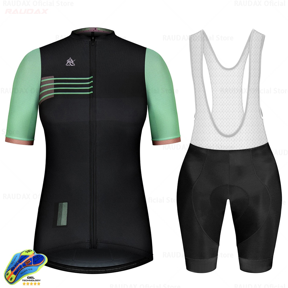 Las mujeres Jersey ciclismo 2020 Pro equipo Raudax ciclismo ropa de secado...