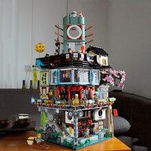 En Stock 4953 pièces Ninja ville Ninja film maître de Spinjitzu avec lumière modèle bloc de construction briques jouets enfants cadeaux 70620