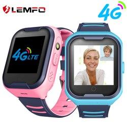 Relógio inteligente para crianças meninos lemfo g4h 4g smartwatch com cartão sim gps chamada de vídeo cartão sim ip67 à prova dip67 água câmera wifi sos