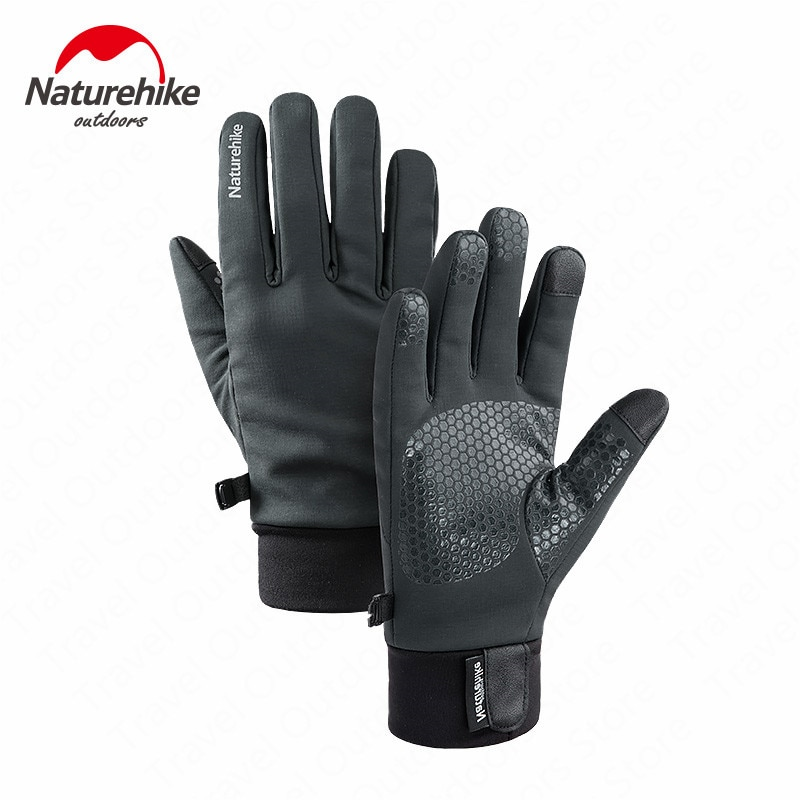Guantes de invierno Naturehike de conducción al aire libre, guantes antideslizantes impermeables con pantalla táctil NH19S005-T