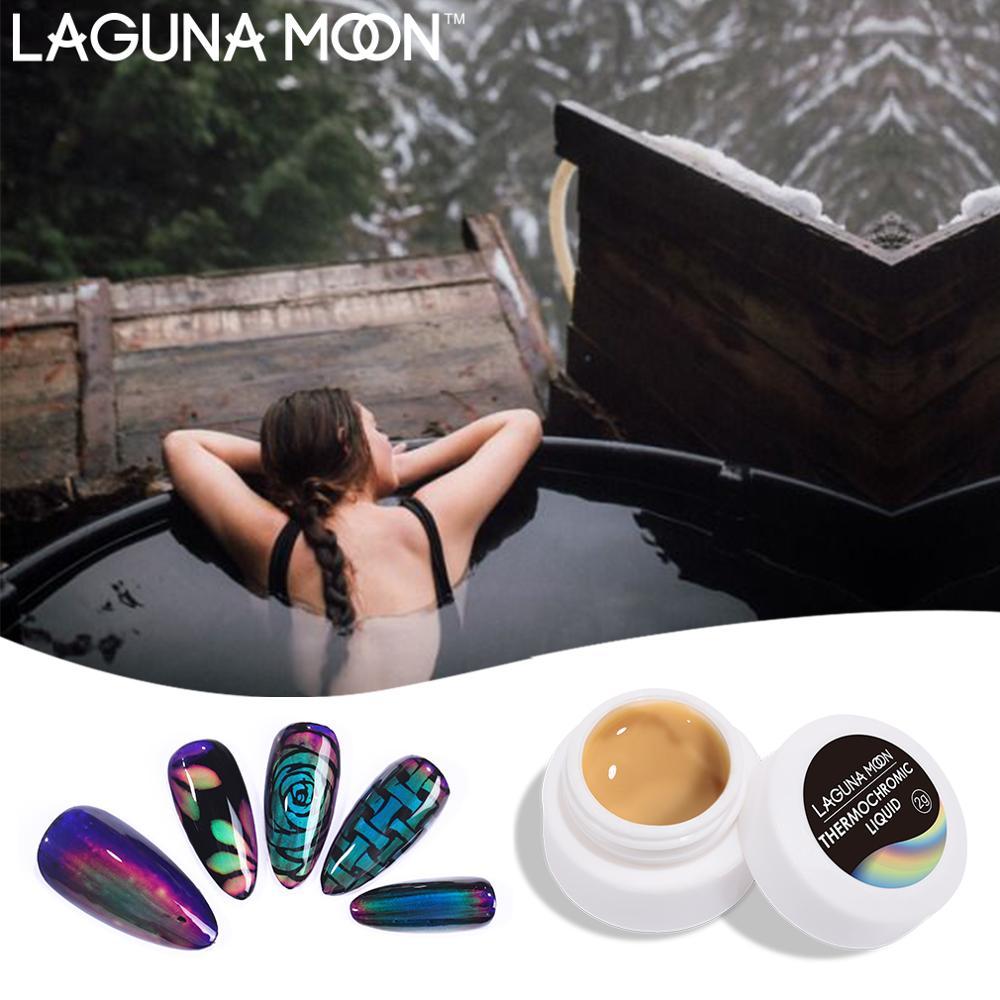 Laguminoon термохромная жидкая кристаллическая краска настроения 2 мл изменение УФ LED отмачиваемый педикюрный гель лак для ногтей Перманентный лак