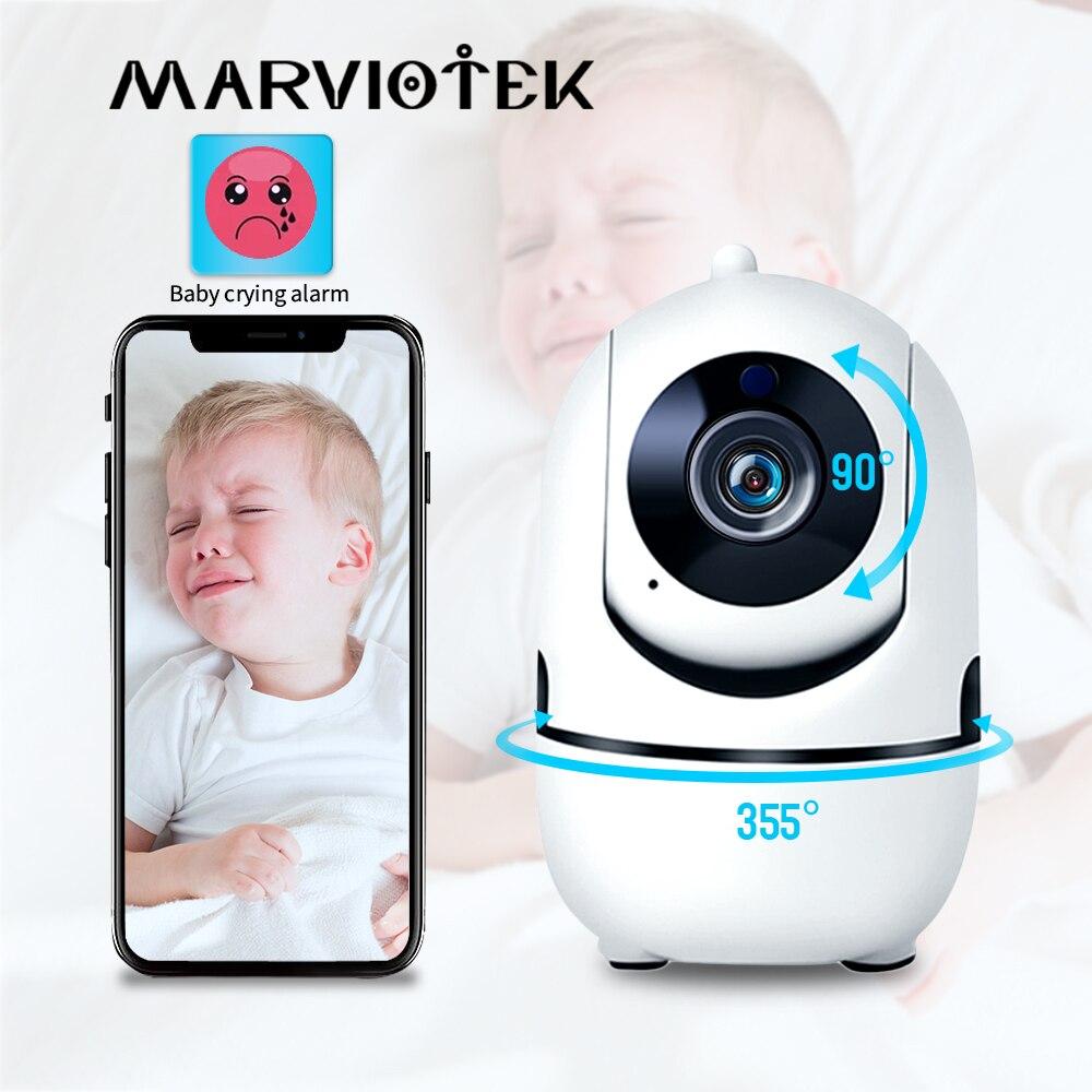 جهاز مراقبة الطفل 720P من Home Security جهاز مراقبة الطفل مزود بخاصية Wifi مع كاميرا للرؤية الليلية كاميرا لاسلكية لمربية الأطفال بالصوت والفيديو في ا...