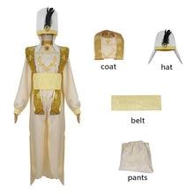 Film Aladdin et la lampe magique Aladdin Cosplay Costume Halloween Costumes pour adultes enfants jasmin Aladdin Costume Costume chapeau