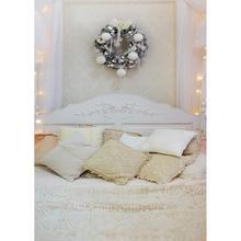 عيد الميلاد اكليلا من الزهور البيضاء غرفة نوم خلفيات التصوير الفوتوغرافي الكمبيوتر المطبوعة خلفية للأطفال استحمام الطفل صور مصورة