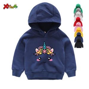 2020 Winter Kids Baby Girls Long Sleeve Unicorn Sweatshirts Cotton Tops Casual Children Hoodies Shirt Toddler Girls Clothes 3-8Y