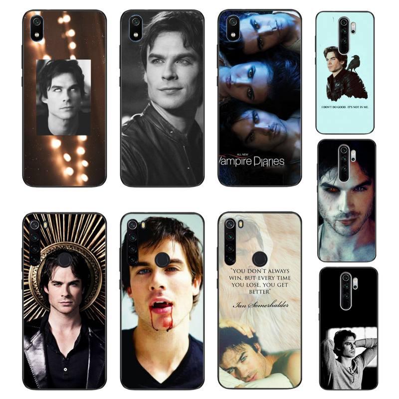 HTXian los diarios de vampiros Stefan Damon Salvatore negro Funda de teléfono para Xiaomi Redmi Note8T 7 9 Pro 5A Redmi4X 5A 6A 6 7 8 5