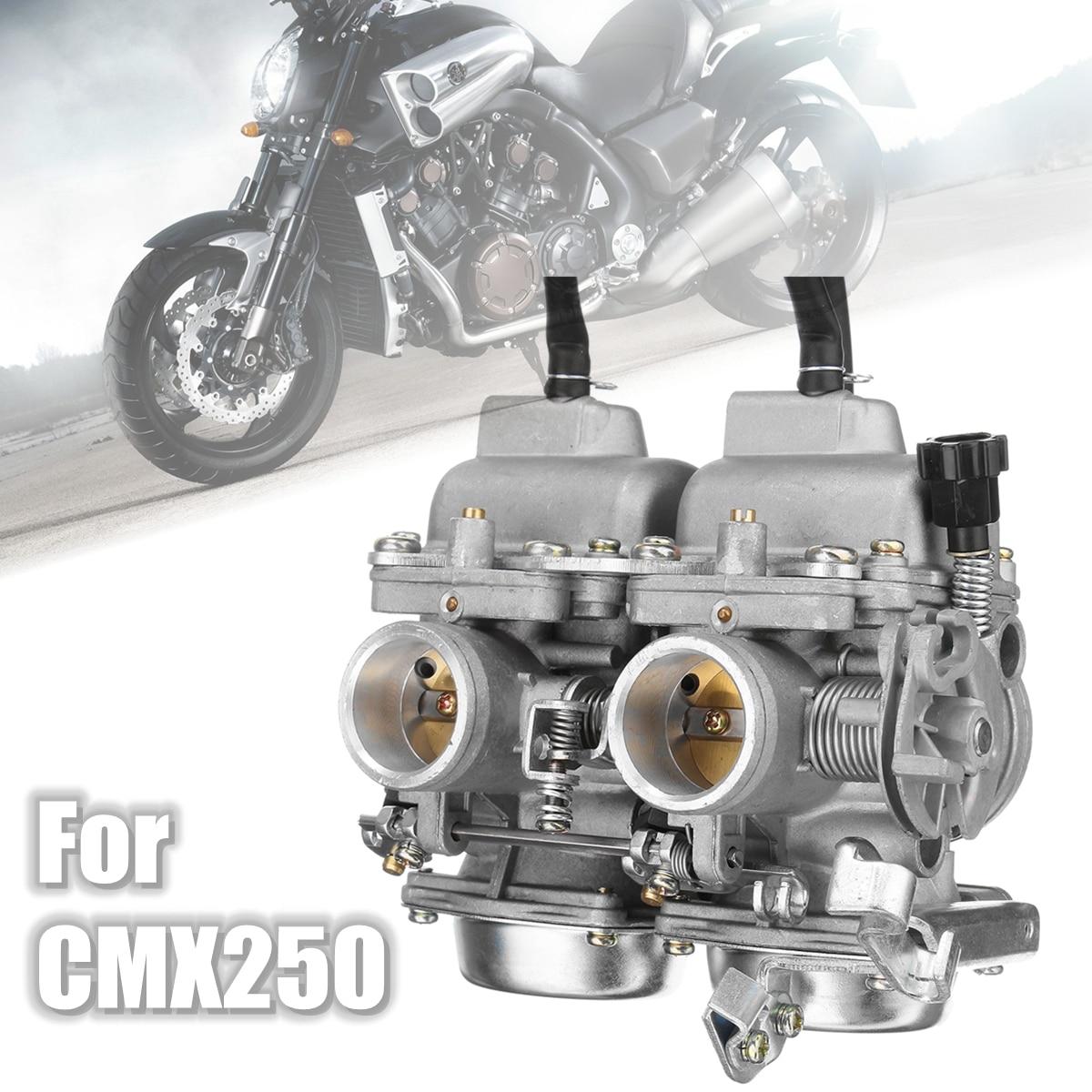 Filtro de combustible de montaje de cámara de carburador doble para Honda Rebel CA CMX 250 C CMX250 CA250