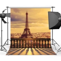 scenery photo eiffer tower booth background for photography sunset background for city props s 716