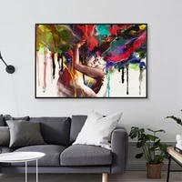 abstract hd print poster couple graffiti art painting modern fashion living room bedroom corridor home decoration without frame