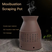 ceramic household warm moxibustion pot moxibustion museum stone scraping cup household hand held hanging scraping instrument