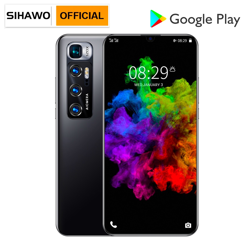 8GB RAM 256GB ROM Android 10 Dual SIM 4G Smart Phone Call MTK6889 Octa Core 6.8 inch 1440x3200 Resolution Phone Wify BT5 Tablets