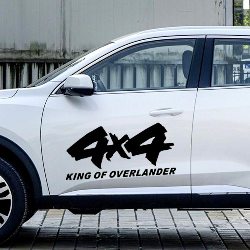 Autocollants de décoration créative D25   80CM * 38CM 4x4, autocollants du roi des Overlander, pour 4WD SUV, portes Jeep et Auto, Tuning