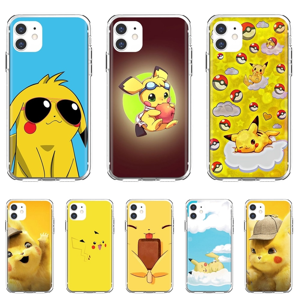 Pikachu-Handsome Soft Covers For Samsung Galaxy S7 S8 S9 S10E S20 FE Note 10 20 Edge Lite Plus Ultra