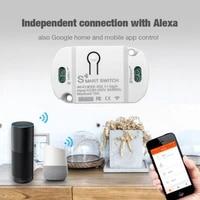 Interrupteur lumineux intelligent universel  minuterie de disjoncteur  telecommande sans fil  domotique  fonctionne avec Alexa Google Assistant IFTTT