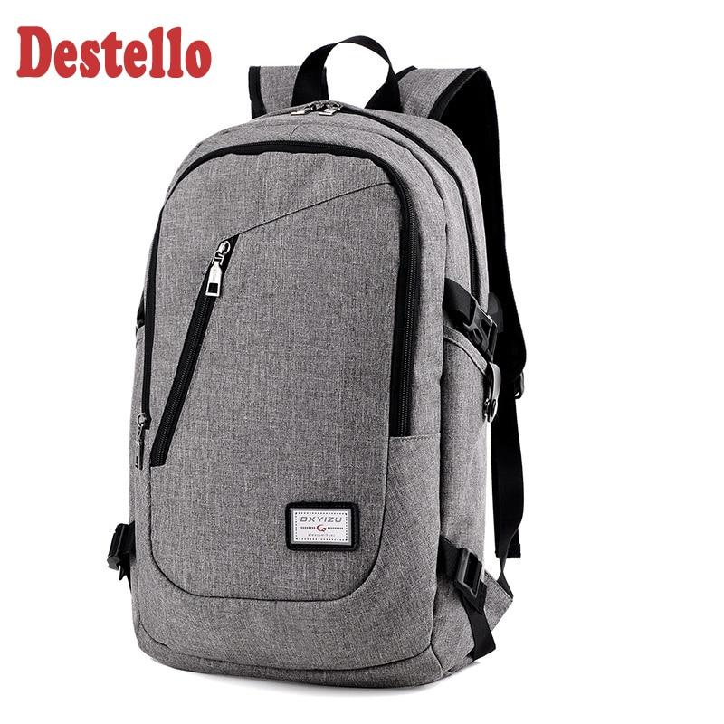 Мужской деловой рюкзак для ноутбука, рюкзак с Usb-зарядкой для компьютера, повседневный стильный большой деловой дорожный ранец
