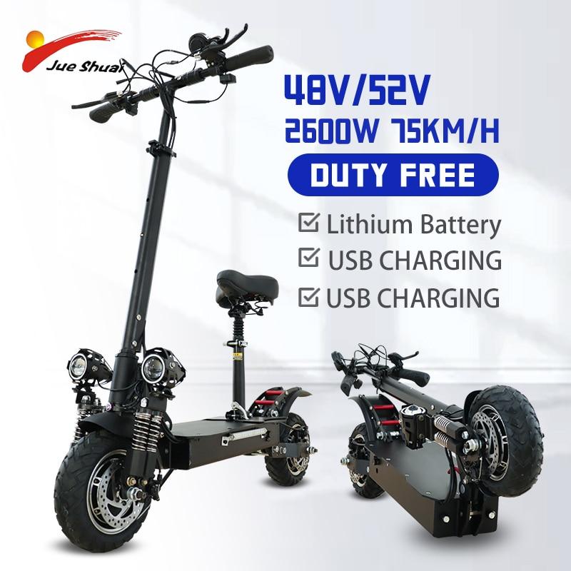 Jueshuai-patinete eléctrico de 2600W para adultos, Scooter de dos motores, patín eléctrico...
