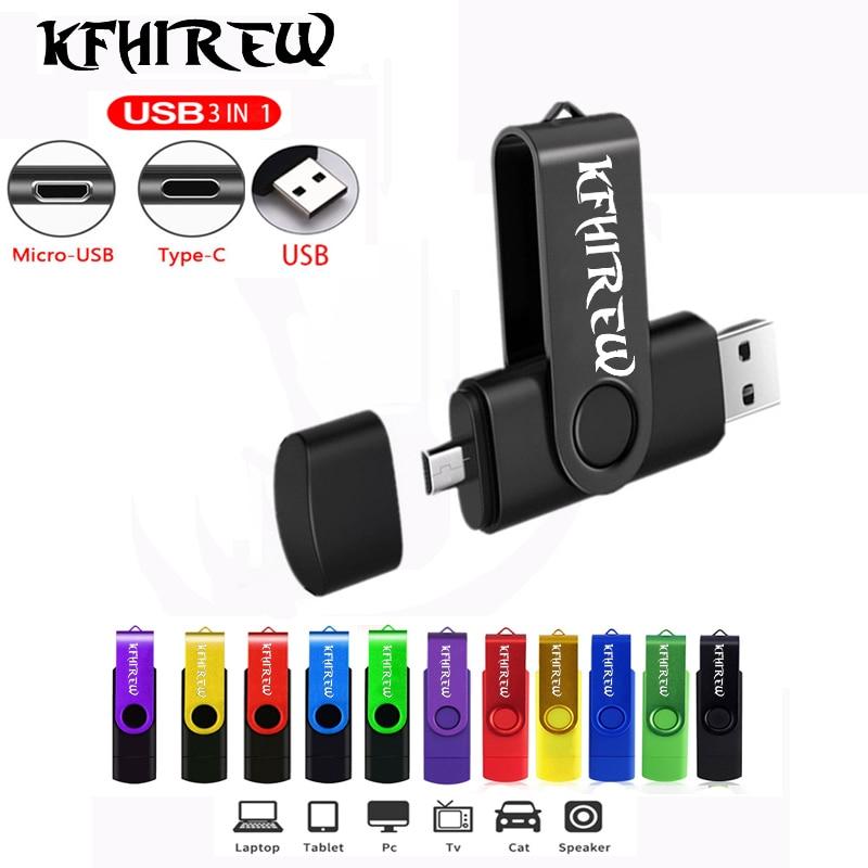 OTG 3 IN 1 pendrive 128GB cle usb memory 32GB Type-C USB Flash Drive 16GB pen drive 64GB flash usb pen 8GB Key usb flash stick