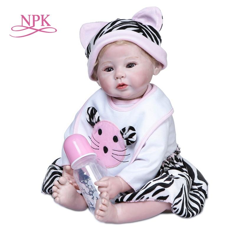 Npk 50cm toque macio cuddly bebê recém-nascido bebe boneca reborn bebê boneca 100% pintura à mão collecitble alta qualidade boneca