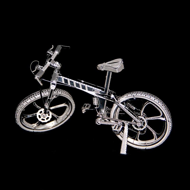 Rompecabezas 3D DIY de bicicleta de metal, mini modelos de colección, juguetes de regalo, rompecabezas de corte láser de tierra, medición de precisión, forjado, nuevo