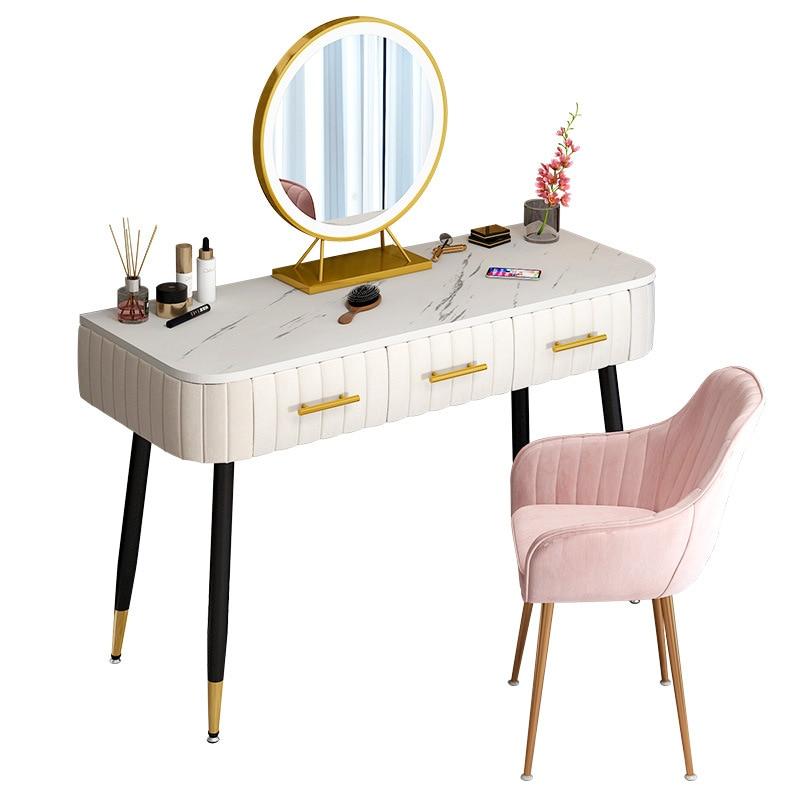 Туалетный столик светильник имитацией мрамора, легкий роскошный туалетный столик для спальни, зеркало, детский туалетный столик, стол для д...
