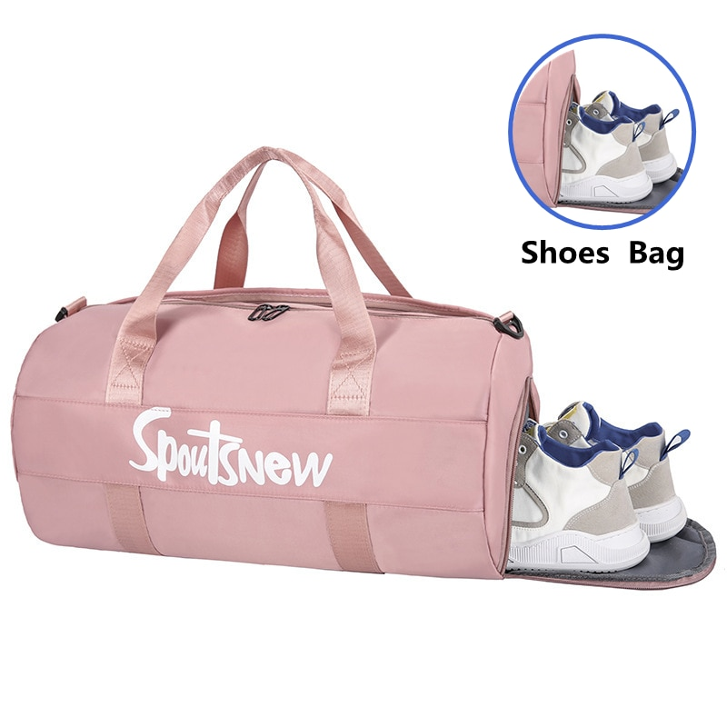 2021 Waterproof Sports Fitness Bag Adjustable Gym Yoga Bag Big Travel Duffle Handbag for Women  Weekend Traveling Bag Bolsa Sac