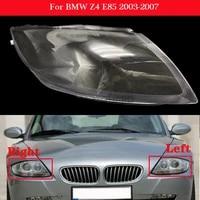car front headlight cover for bmw z4 e85 2003 2007 auto headlamp headlight lampshade lampcover head lamp light glass lens shell