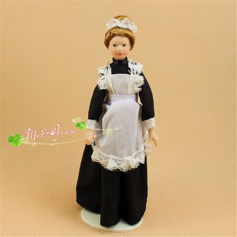 1:12 dollhouse miniature dolls kids family pretend play toys ceramics mini doll for children girls gifts home deco