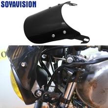 Universal 5-7 inch retro Motorcycle Headlight Fairing Windshield mount Kits For Cafe Racer headlight lamp Handlebar Fairing