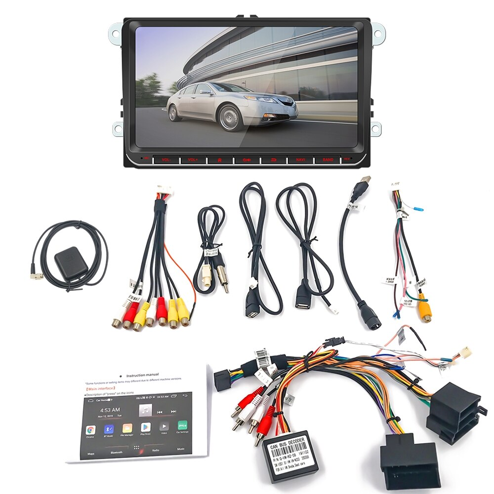 12V Auto MP5 Player Android Navigation QN8035 Stereo Audio Radio Wireless FM