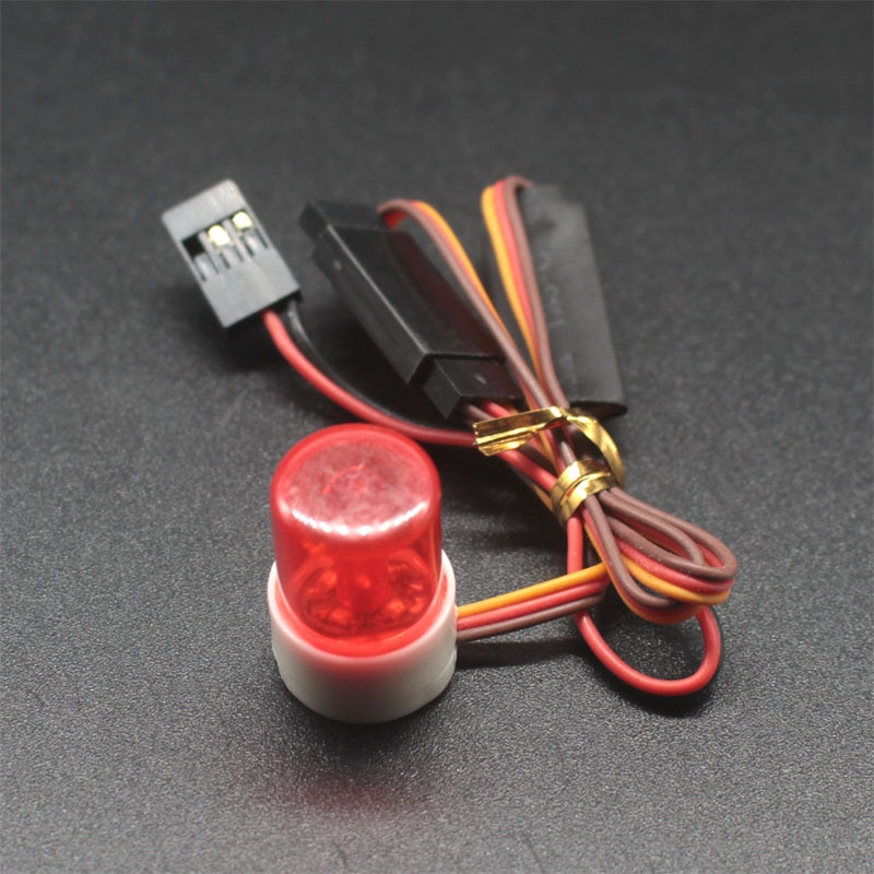 Modelo RC coche policía flash nocturno brillante LED 360 grados de luz rotación demostración 503