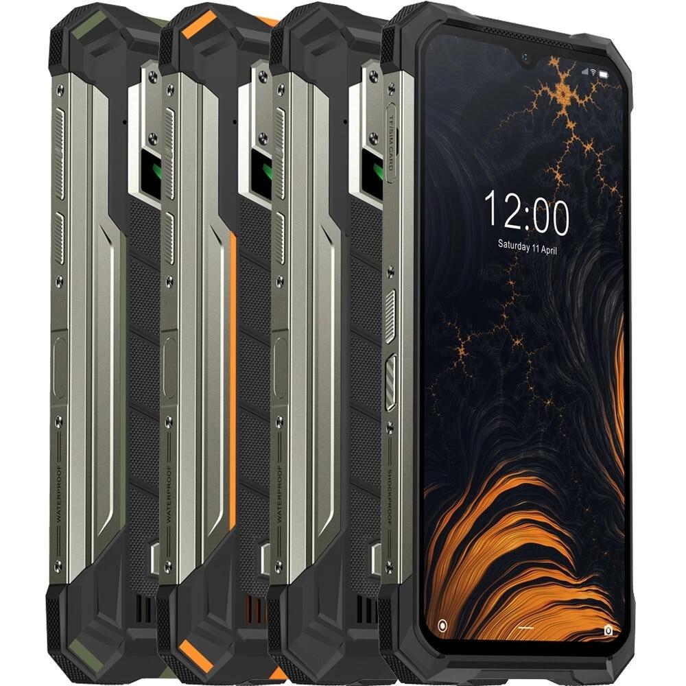 DOOGEE S88 Pro 6,3 дюйма FHD + IP68/IP69K Водонепроницаемый NFC 10000 мАч Беспроводная зарядка Android 10 6 ГБ 128 ГБ Helio P70 4G смартфон