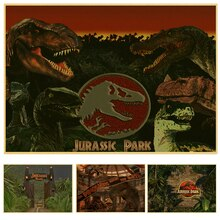 Vintage poster kraftpapier Jurassic Park poster voor muur foto woonkamer house cafe bar muur art decor muursticker
