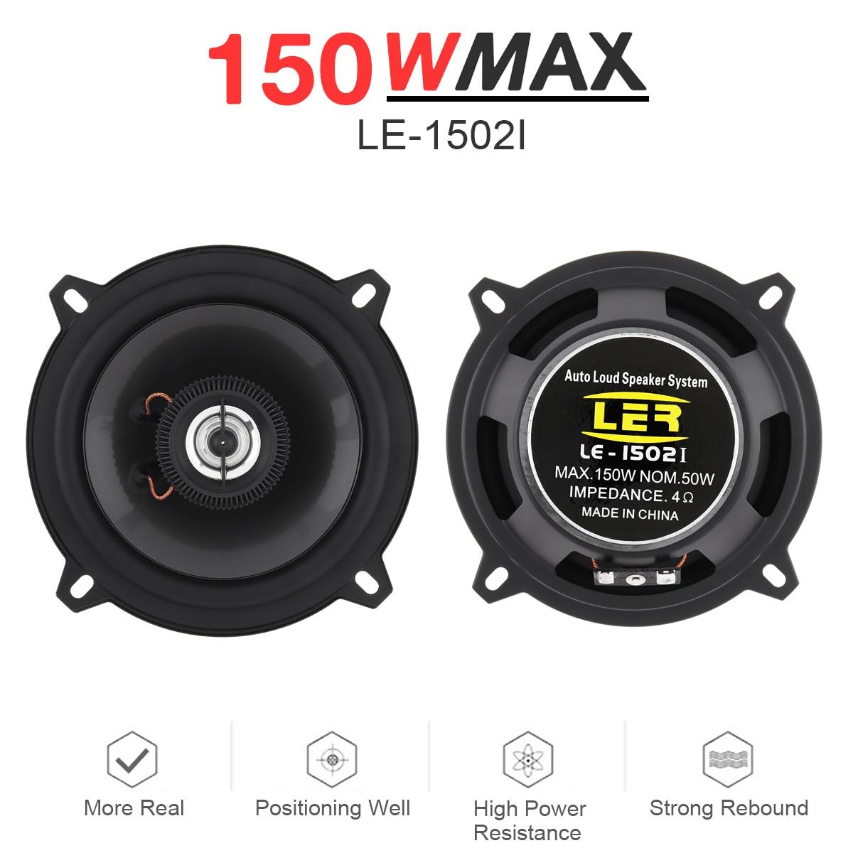 2 stücke 5 Zoll 150W 2 Way Universal Auto Koaxial Lautsprecher Audio Stereo Lautsprecher Vollständige Palette Frequenz HiFi für auto Stereo für Auto