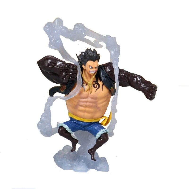 19cm KOA One Piece Action Figure Monkey D Luffy Gear 4 Luffy Fighting Form Bounce Figurine PVC Model Toy Dolls