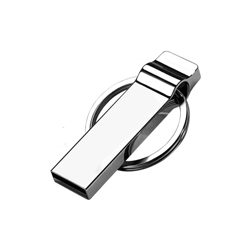 64GB Waterproof USB 2.0 Flash Drive Metal Thumb Drive with Keychain 32 GB Compact Jump Drive Memory Stick for Storage and Backup