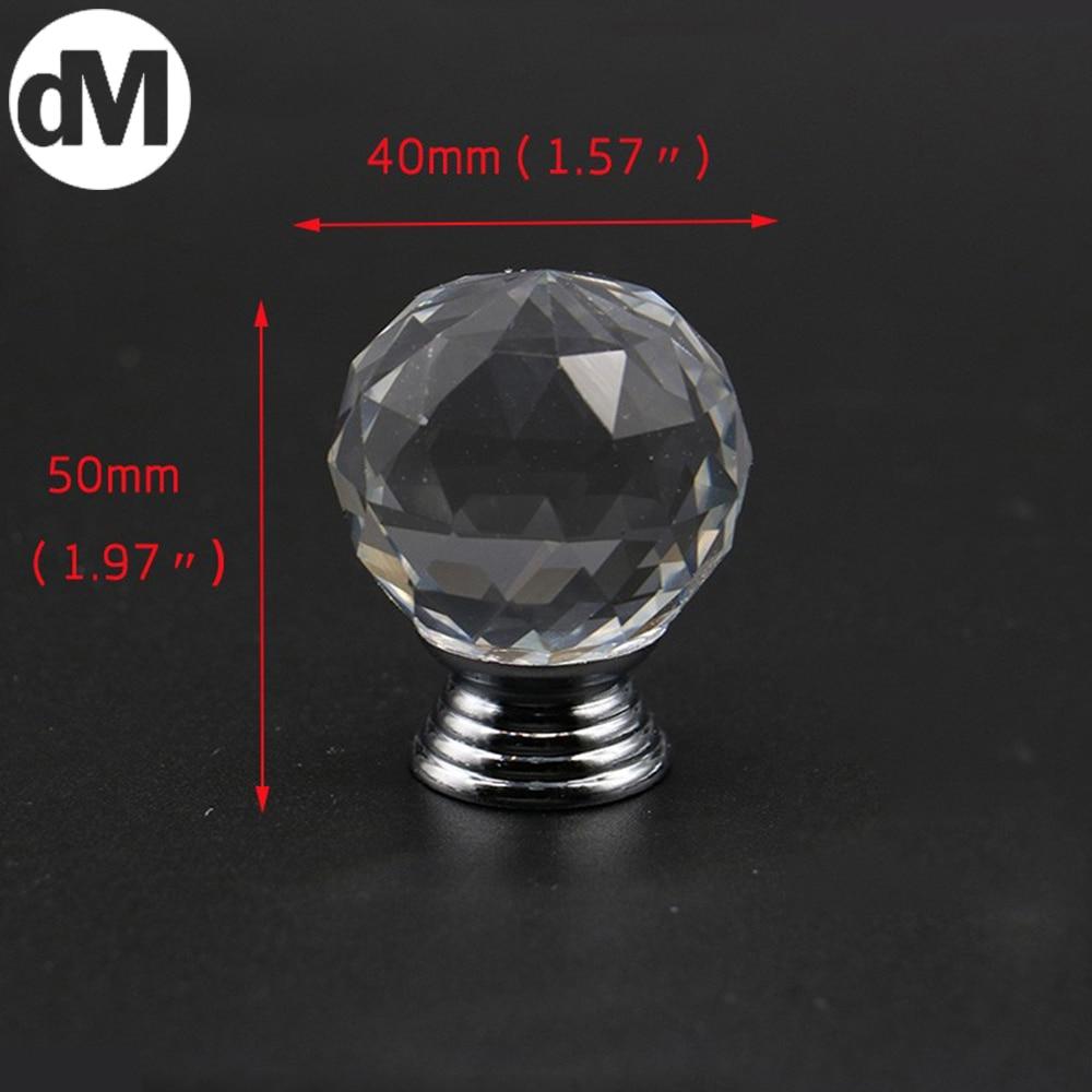 DM-Tirador De Cristal para Cocina, accesorios Con tornos Último, 40x50mm