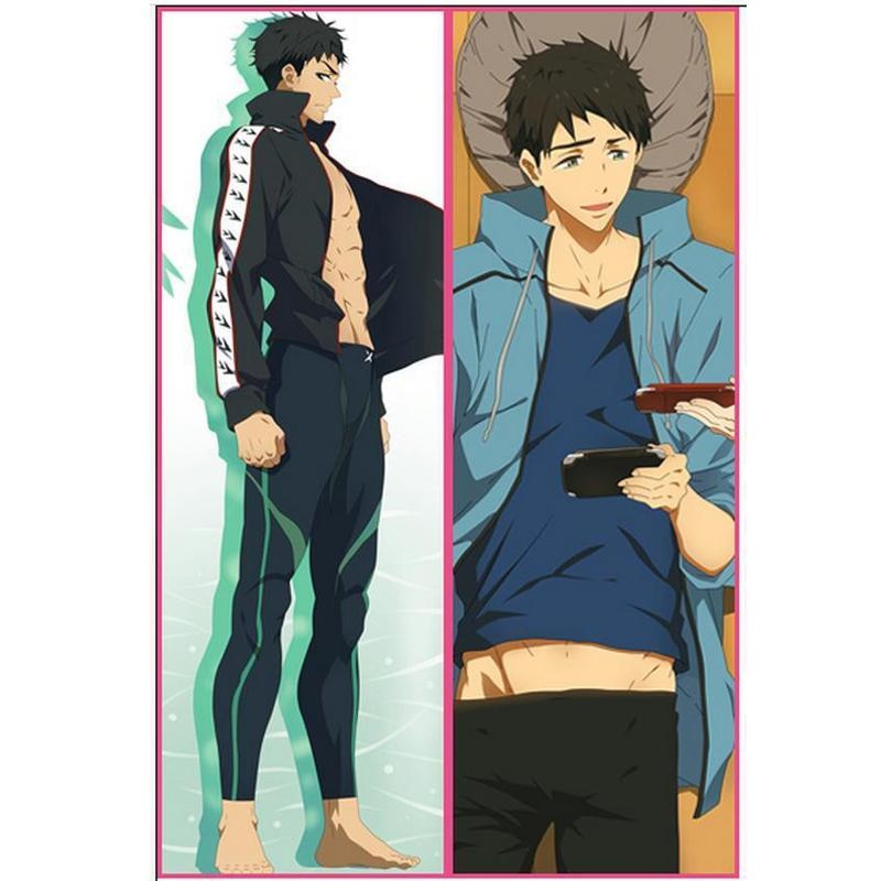 BL masculino japonés decorativo Anime libre Sosuke Yamazaki tiro Otaku Dakimakura regalo ropa de cama Hugging cuerpo almohada funda 150x50 CM