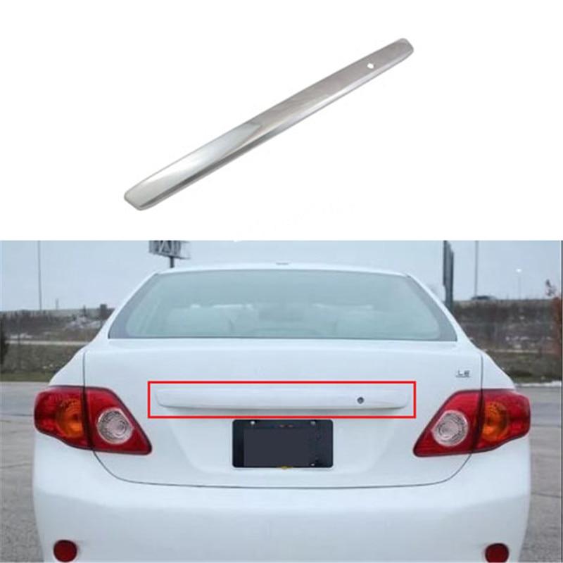 1 Uds. Abs cromo cubierta de moldeo de la tapa del maletero trasero del coche para Toyota Corolla 2008-2013 E140