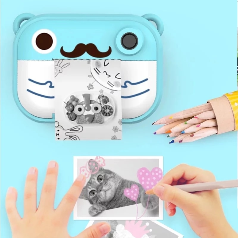 Children's WI-FI Camera With Print Instant Print Photos Camera Kids Toys Boy Girl Cute Christmas Gift 1080P Video Digital Camera enlarge