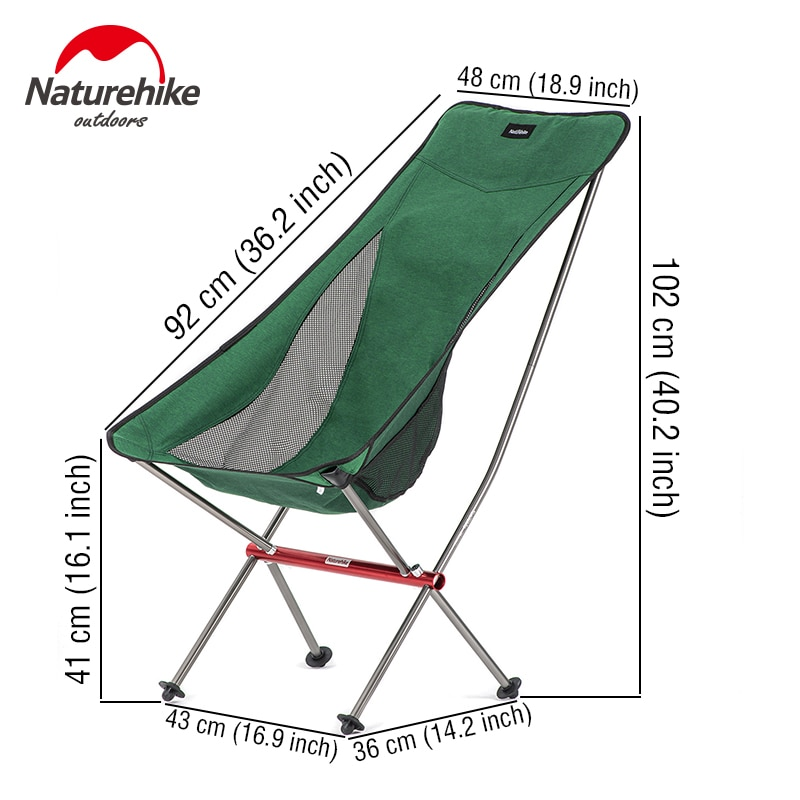 Naturehike Chair Ultralight Portable Folding Chair High Foldable Fishing Chair Picnic Travel Chair Outdoor Moon Camping Chair enlarge