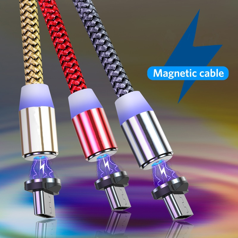 Cable magnético Micro USB tipo C para iPhone, Xiaomi, Android, Cable de...