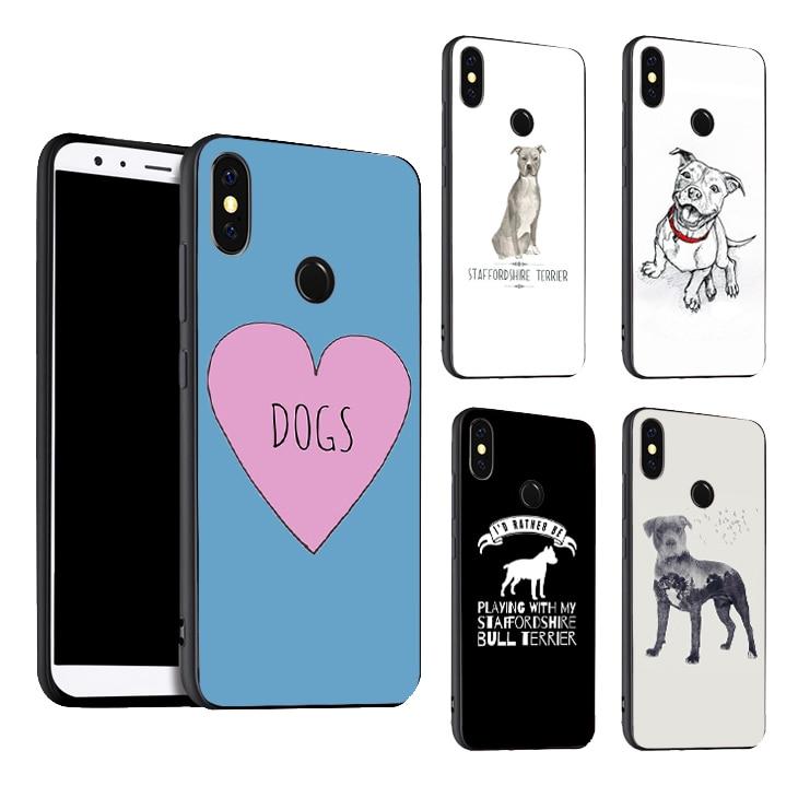 Funda de American Staffordshire Terrier para Xiaomi Mi 9 SE 9T10 Pro A3 Note10 Max3 Redmi Note 8 9 Pro 7 8T 9 S K30 7A 8A