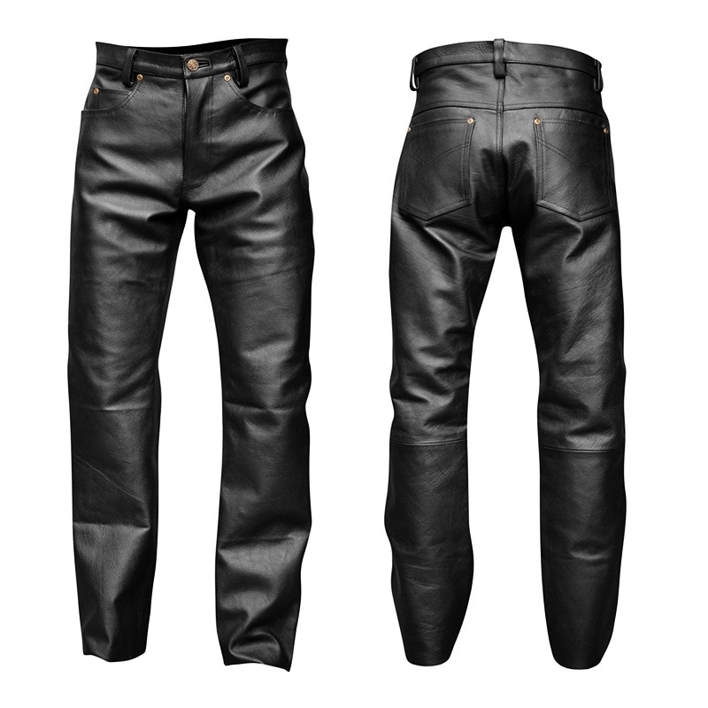 Summer Mens Business Slim Fit Stretchy Black Faux Leather Pants Male Elastic Tight Trousers PU Leather Shiny Pencil Pants