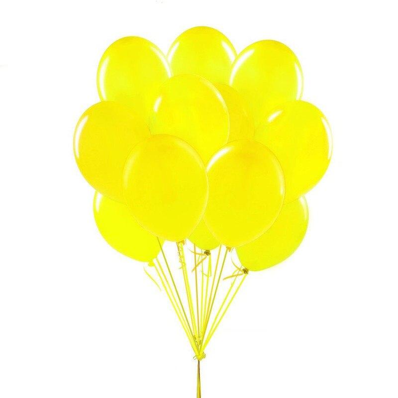 10 Uds. Globos de aire de globo látex inflable amarillo de 12 pulgadas 2,8g decoración de bodas globos flotantes para fiestas de cumpleaños suministros de Juguetes