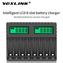 VOXLINK Battery Charger LCD Display Smart Intelligent 8-Slot Chargers For AA/AAA NiCd NiMh Rechargeable Batteries aa aaa Charger