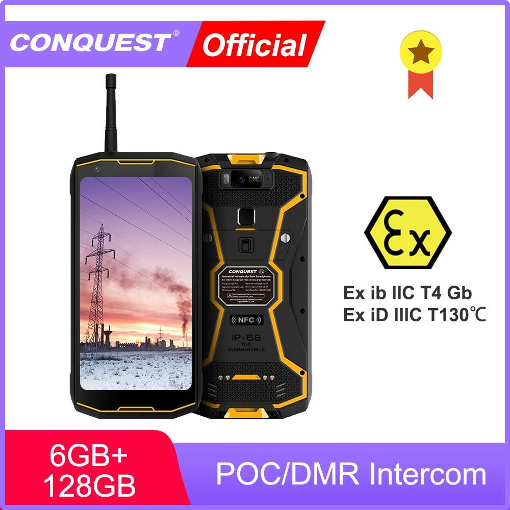 Перейти на Алиэкспресс и купить CONQUEST S12 Pro ATEX POC/рация ПМР ATEX Телефон IP68 Водонепроницаемые смартфоны прочный смартфон сотовый телефон мобильные телефоны