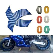 Moto roue autocollant 3D réfléchissant jante bande Auto décalcomanies bandes pour Honda CBR 929 600 954 1000 RR 1100XX CB1000R ST1300 CR80R