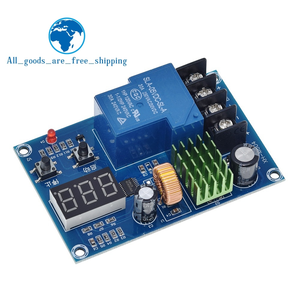 TZT XH-M604 Battery Charger Control Module DC 6-60V Storage Lithium Battery Charging Control Protection Board Switch