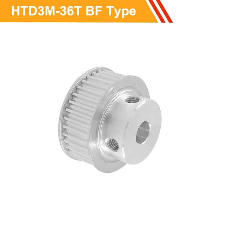 Polea de correa 3M 36T CNC tipo HTD3M rueda de polea síncrona 11mm/16mm ancho de correa 6/8/10/12/14/15/16mm polea de correa dentada