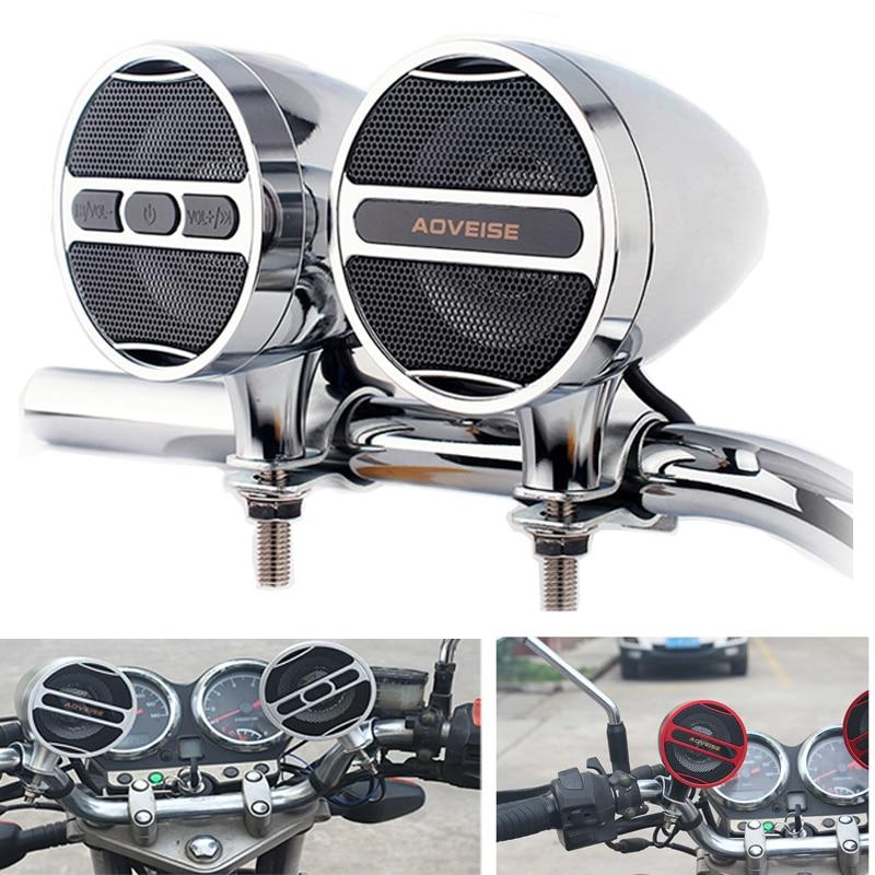 Водонепроницаемый мотоциклетный MP3-плеер Усилитель Громкоговоритель 12 в музыкальный плеер FM-Радио Стерео Bluetooth-совместимый динамик